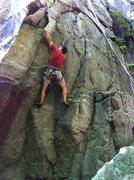 Rock Climbing Photo: Jeff gaining the crux on hollywood, via connor's v...