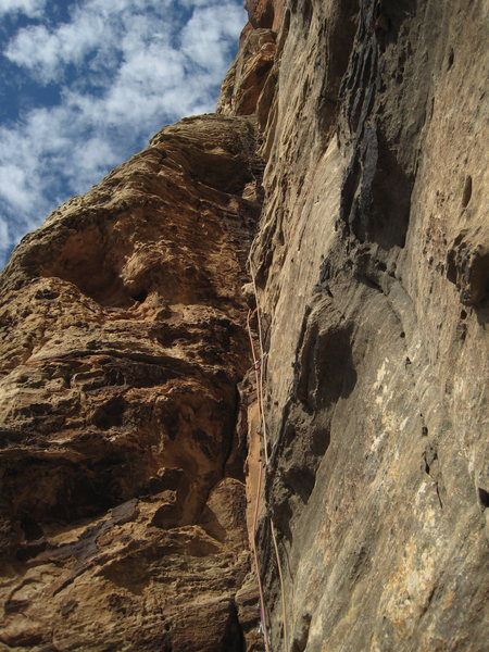 bottom up of P5 to biv ledge
