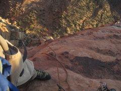 Rock Climbing Photo: belay at top of P9