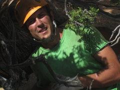 Rock Climbing Photo: garrett weaver in rap tree on summit