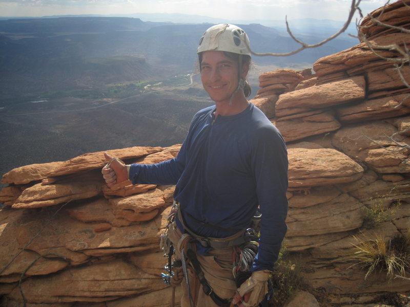 Rock Climbing Photo: javi on summit of TATOWEEN!