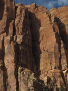 Rock Climbing Photo: Tatoween, route goes up face of pillar left of the...