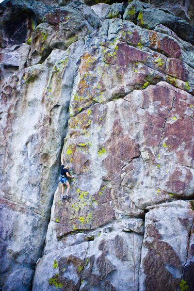 Rock Climbing Photo: Jennilyn toproping Where Rangers Retire.