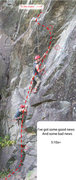 Rock Climbing Photo: Left of Ellie's Sweet kiss (10a). The route goes u...