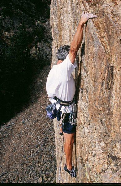 Rock Climbing Photo: Good 10+ climbing on Empire's infamous, flat holds...