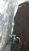Rock Climbing Photo: Jim following hookers and blow, 5.11