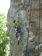 Rock Climbing Photo: Looking sloppy on the first attempt of the day, bu...