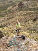 Rock Climbing Photo: Belaying from the top using an ATC guide.