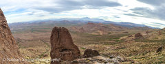 Rock Climbing Photo: Panorama of the view from the 2nd belay stance.  T...