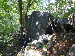 Rock Climbing Photo: Sleepy Time boulder.  Fully Aroused climbs center ...