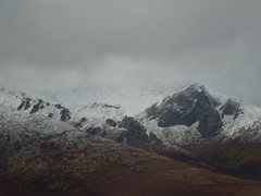 Rock Climbing Photo: Less than ideal conditions for climbing out on Mt ...