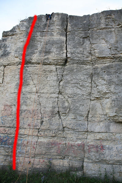 Rock Climbing Photo: The climb starts 5 feet to the left of Unknown #1 ...