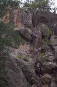 Rock Climbing Photo: Taylor L. passing the bolt