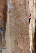 Rock Climbing Photo: Mike Lechlinski on South of Heaven.  Photo credit ...