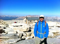 Rock Climbing Photo: top of mt. whitney