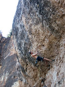 Rock Climbing Photo: Ethan Edwards getting started on the steep crux se...