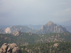 Rock Climbing Photo: Cathedral Spires and the Dome from the summit of R...