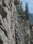 Rock Climbing Photo: Finishing up nicely.