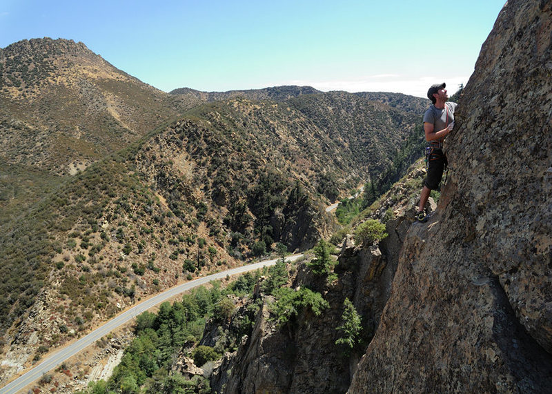 Rock Climbing Photo: Eric Gaulden nears the top of Seven Steps to Heave...