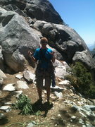 Rock Climbing Photo: The start of Jensen's Jaunt. If you haven't climbe...