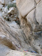 Rock Climbing Photo: The EYE!!! in Joshua Tree!!! coolest Ascend in Hid...