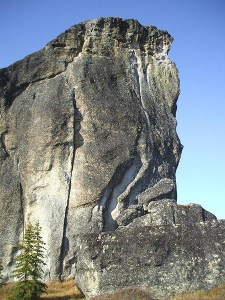Rock Climbing Photo: Follows the crack up the left side of the photo. T...