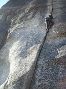 Rock Climbing Photo: Perfect hands? Bottom half of Little Maniac. Photo...