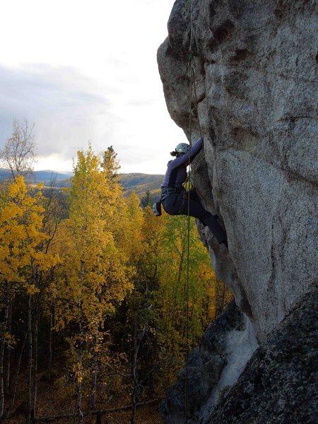 Rock Climbing Photo: Jaime working through the top of Teenage