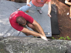 Rock Climbing Photo: Laying back the start of y-axis