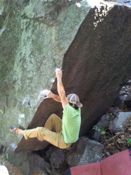 Rock Climbing Photo: Remo on the first ascent of the Good Life