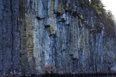 Rock Climbing Photo: no chalk here.  Punchbowl lake deepwater solo pote...