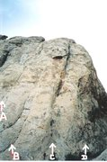 Rock Climbing Photo: Little Spotted Wolf Canyon A.Ranting Ravens 5.7 B....