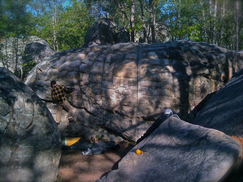 Rock Climbing Photo: Ahh horsepens... heaven like slopers.