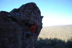 Rock Climbing Photo: Tim finding Sanctuary on a fine January morning.
