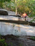 Rock Climbing Photo: The diagonal crack.