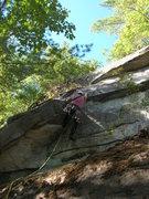 "Rock Climbing Photo: Joshua Corbett on ""Sacred Fire."""