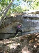 Rock Climbing Photo: Joshua Corbett starts the initial corner flake.