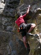 Rock Climbing Photo: Shane Morris on the left start of Chockstone Arete...