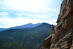 Rock Climbing Photo: Rappelling down, Estes Park Colorado