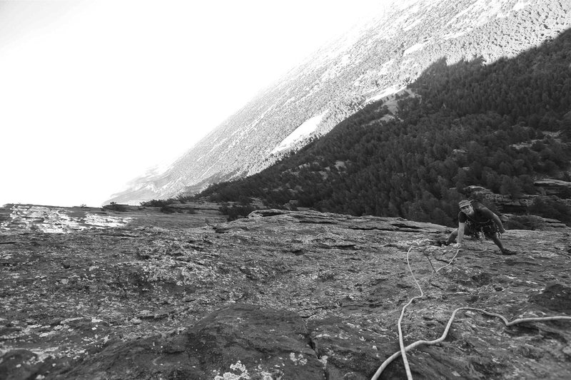 Rock Climbing Photo: Me on the 4th pitch (our 2nd pitch) on the Standar...