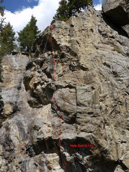 Rock Climbing Photo: Help Gain.