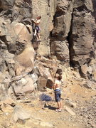 Jar-dogg and I on Boschido...fun route!