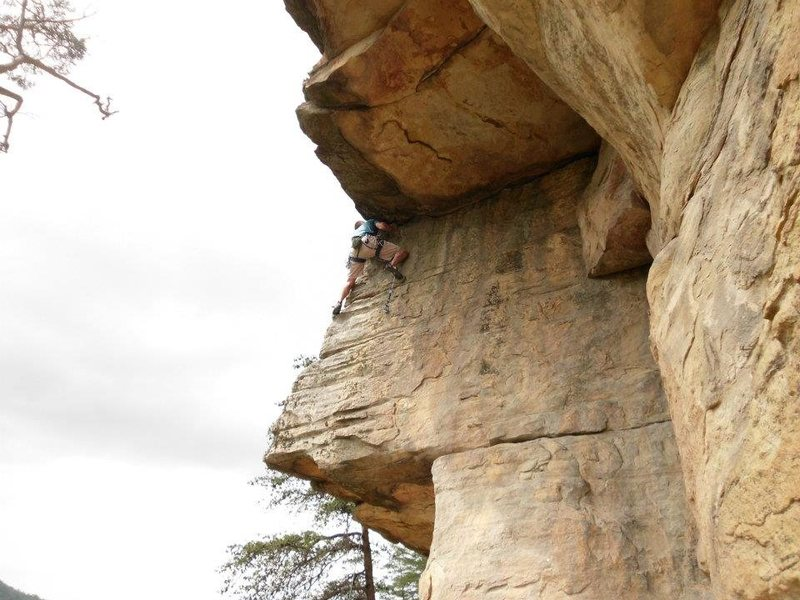 Rock Climbing Photo: Unnamed route at Starr Mountain