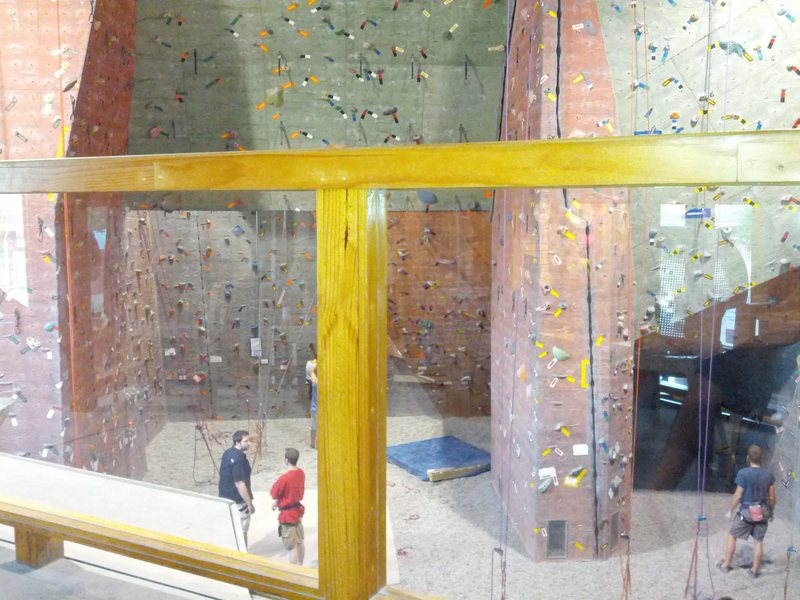 """View of Urban Krag from the """"observer's deck"""" if you will. Bouldering, Top Rope, and Lead routes up to 56 ft"""