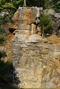 Rock Climbing Photo: The best climb of the area the 5.10, Tricky bottom...