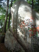 Rock Climbing Photo: Graffiti Face Project.  This is the first boulder ...