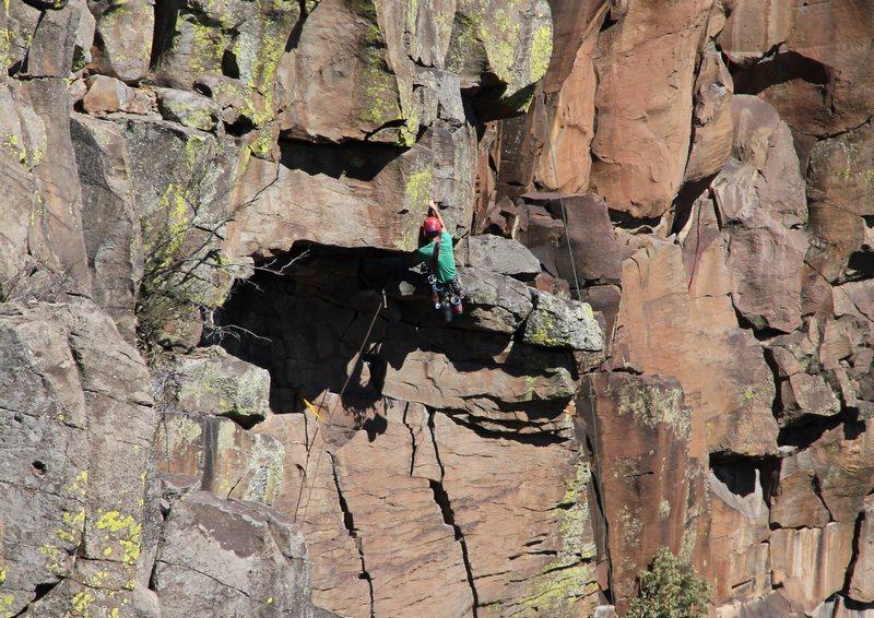 Rock Climbing Photo: trinity roof 3