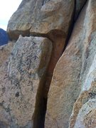 Rock Climbing Photo: The slot just below the crux