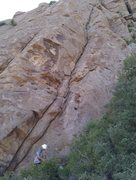 Rock Climbing Photo: First 1.5 pitches