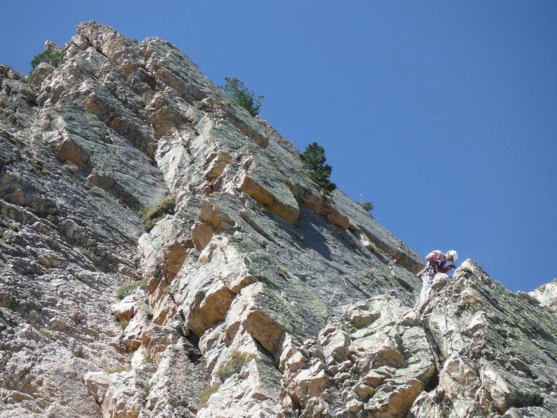 Rock Climbing Photo: midroute